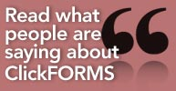 Read what people are saying about ClickFORMS